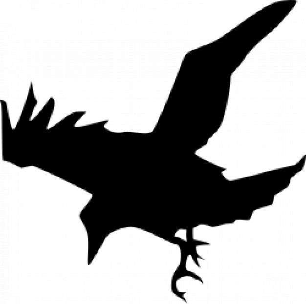626x623 Black Raven Hunting Silhouette Download Free Animal Vectors