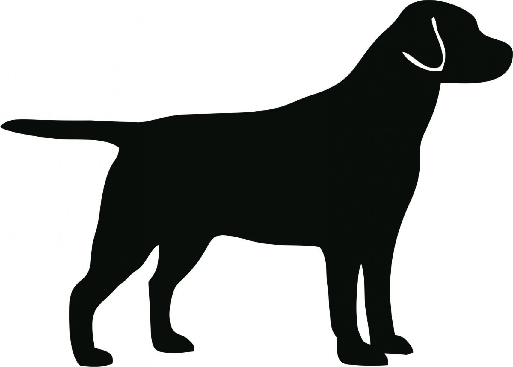 1712x1227 Dog Silhouette Vector Clipart Free