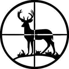 236x236 Deer Hunting Silhouette Clipart