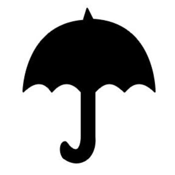 350x350 Silhouette Clipart Image Of A Black Umbrella