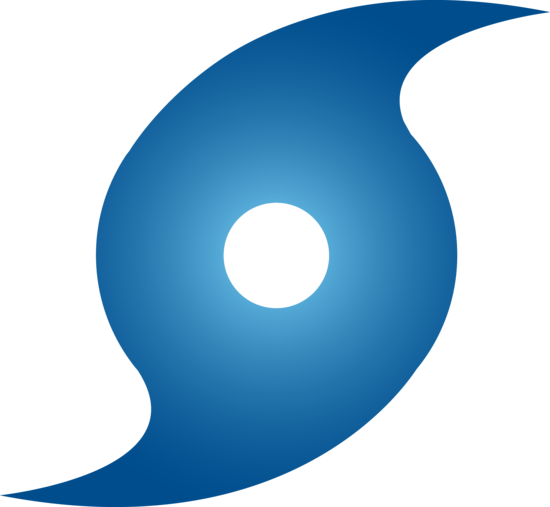 550x507 Hurricane Blue Hurricane Weather Symbol
