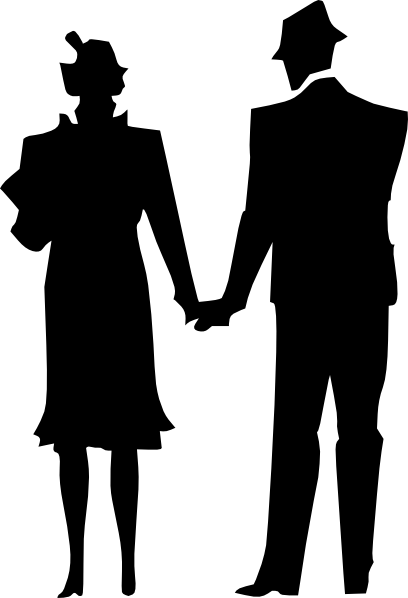 408x598 Husband Wife Married Clip Art