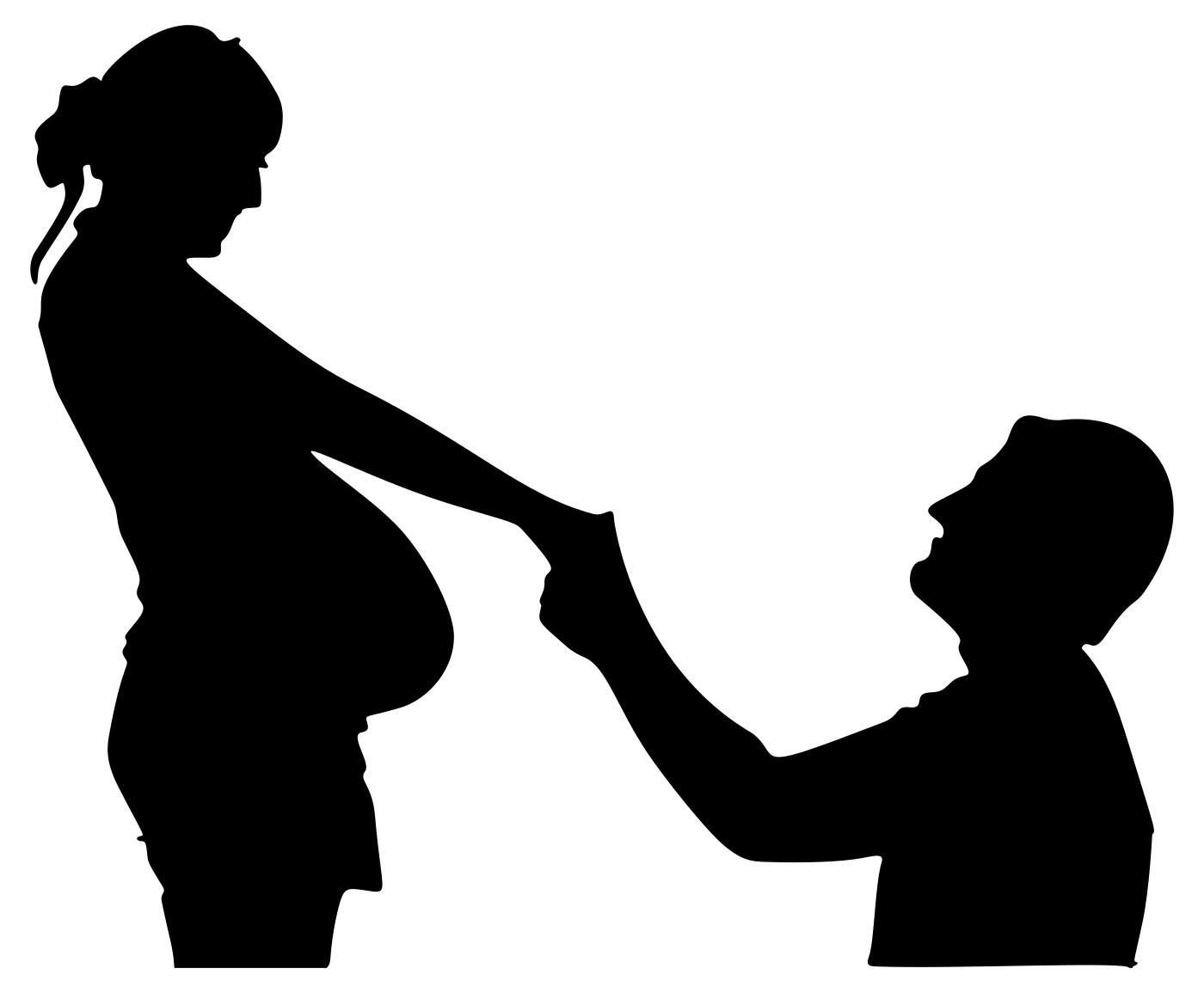 1400x1155 Husband With Pregnant Wife Clipart