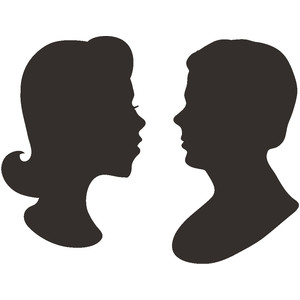300x300 Man And Wife Silhouette