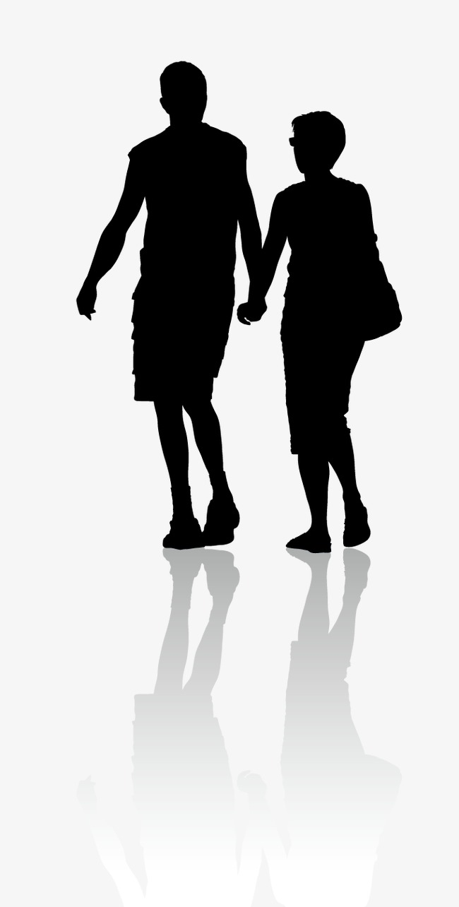 650x1284 Vector Silhouettes Couples, Husband And Wife, Sweetheart
