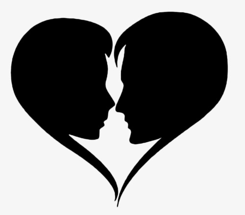 500x438 Couple Silhouette, Black Silhouette, Marry, Lovers Png Image