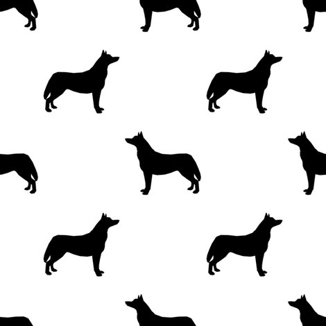470x470 Husky Dog Silhouette White Fabric