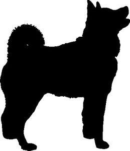 259x300 Snow Husky Dog Silhouette Car Decal Sticker Ebay