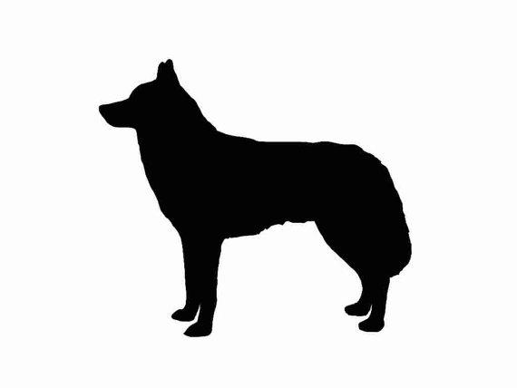 570x428 Siberian Husky Dog Breed Silhouette Custom Die Cut Vinyl Decal