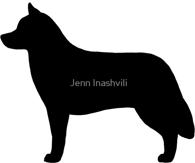 800x669 Siberian Husky Silhouette(S) Stickers By Jenn Inashvili Redbubble