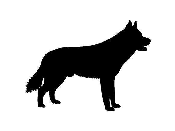 570x428 Siberian Husky V3 Dog Breed Silhouette Custom Die Cut Vinyl