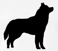 190x166 Husky Black Silhouette By Spreadshirt