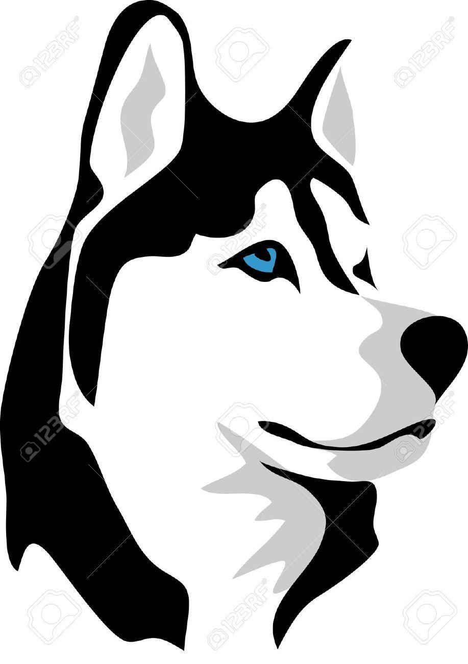 917x1300 Husky Cartoon