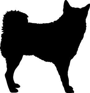 292x300 Husky Dog Silhouette Car Decal Sticker Ebay