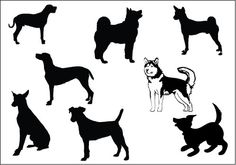 236x165 There Are Different Species Of Dog Silhouette Vectors Are Added