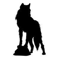 200x200 Shape Shapes Silhouette Silhouettes Animal Animals Wild Hyena Free