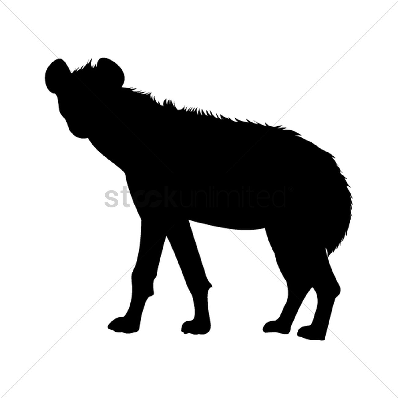 1300x1300 Silhouette Of Hyena Vector Image