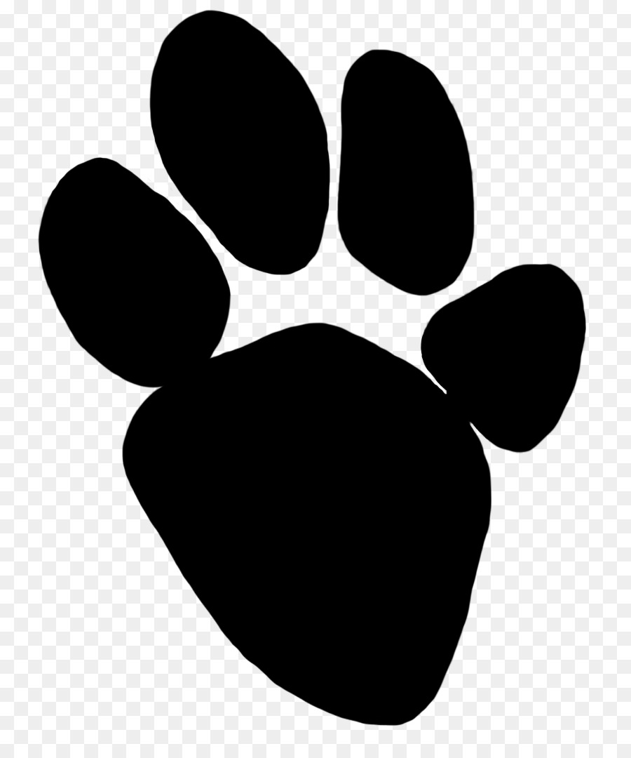 900x1080 Tiger Paw Hyena Animal Track Clip Art