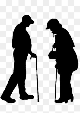 260x365 Silhouette Of The Elderly Png Images Vectors And Psd Files