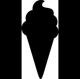 263x262 Free Svg Ice Cream Cone Silhouette Silhouette Ice