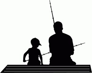 Ice Fishing Silhouette
