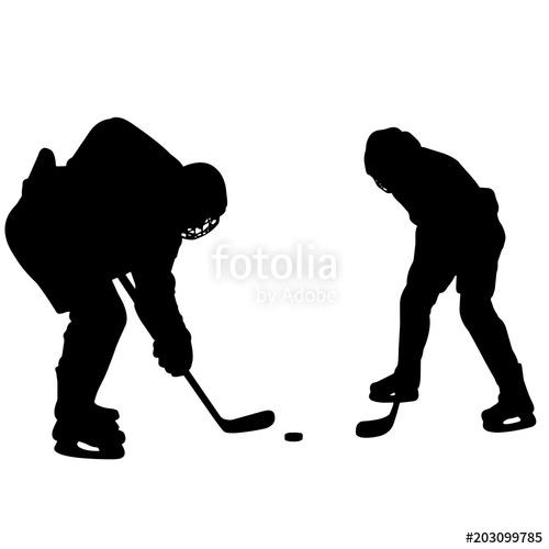 500x500 Ice Hockey Silhouette, Ice Hockey Player Goalie Clipart, Ice