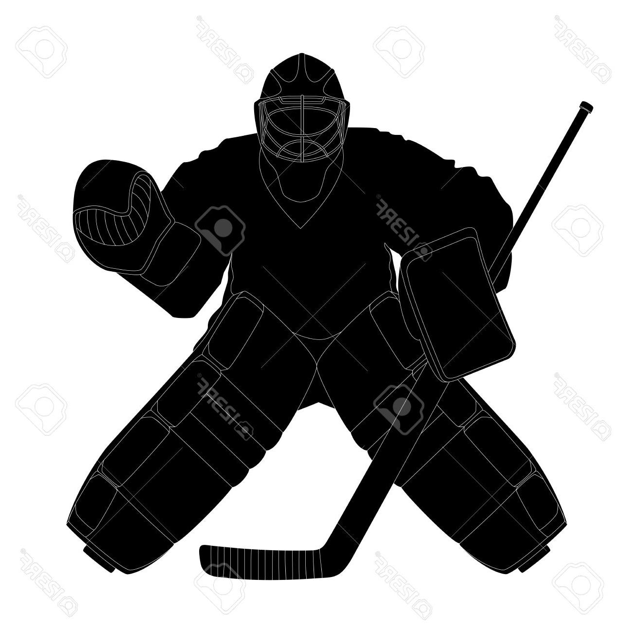 Ice Hockey Goalie Silhouette at GetDrawings.com | Free for personal use Ice Hockey ...