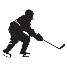 225x225 Simple Black Ice Hockey Player Silhouette Sports And Bets