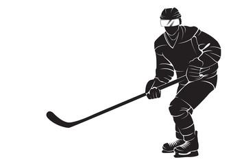 340x240 Hockey Player, Silhouette