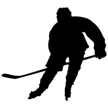 Ice Hockey Player Silhouette At Getdrawings Com Free For