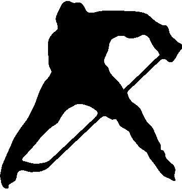 360x374 Hockey Player Decals