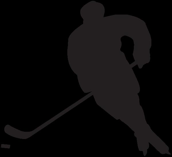 600x548 Free Hockey Silhouette Clipart