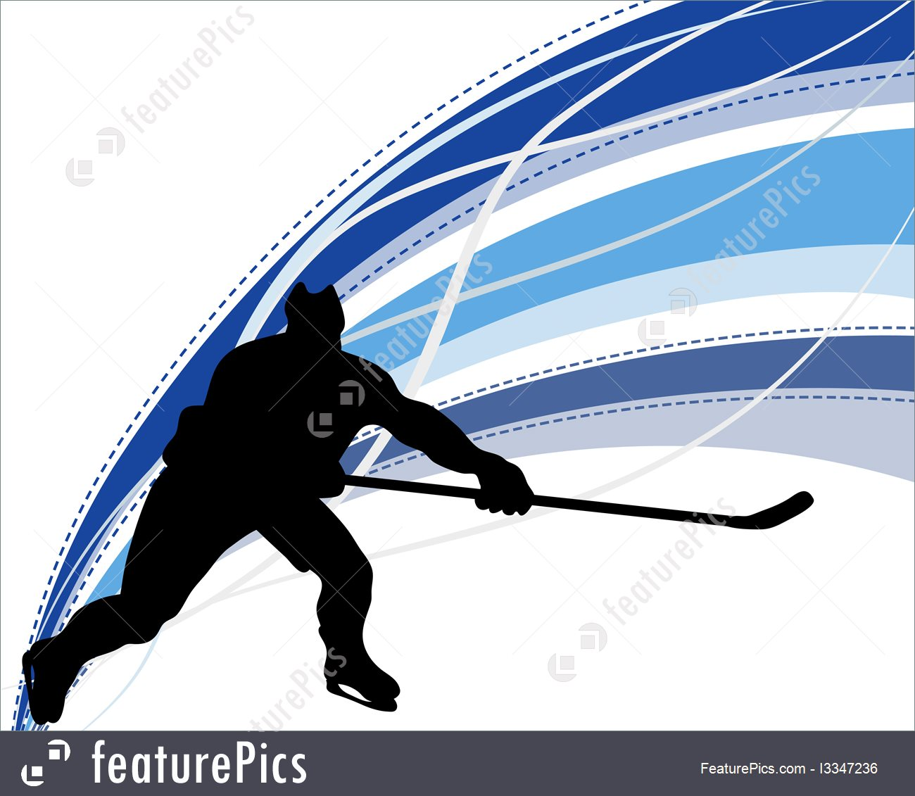 1300x1131 Hockey Player Silhouette Illustration