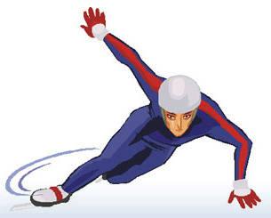305x245 Olympic Speed Skate Clip Art
