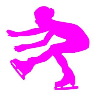 320x315 Ice Skater Silhouette 3 Decal Sticker