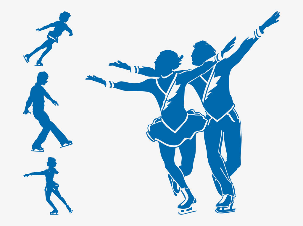 1024x765 Figure Skaters Silhouettes Vector Art Amp Graphics