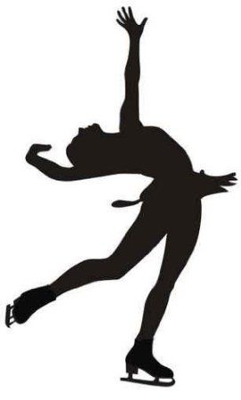 271x450 Layback Figure Skater Wall Decal My Vi Wall Decals