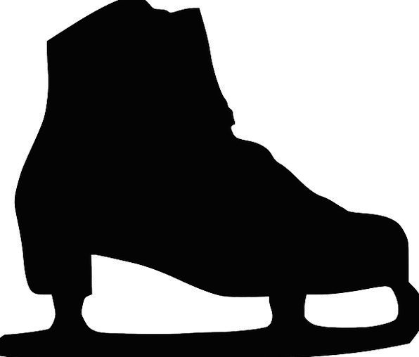 596x508 Skate, Skateboard, Boot, Gumboot, Shoe, Ice, Frost, Silhouette