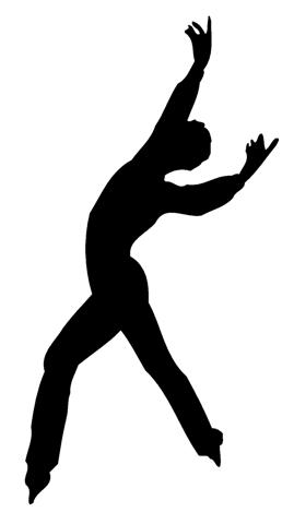 269x480 Ice Skater Silhouette Decal Sticker
