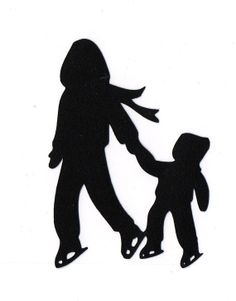 236x301 Silhouette of children ice skating Search Terms figure,girl