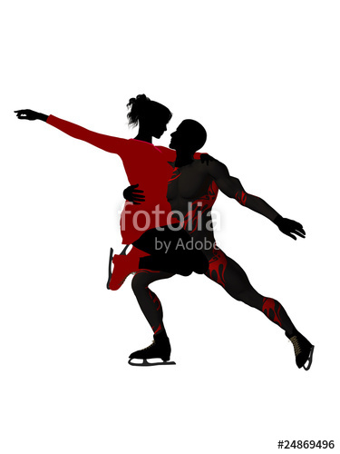 375x500 Couple Ice Skating Silhouette Stock photo and royalty free images