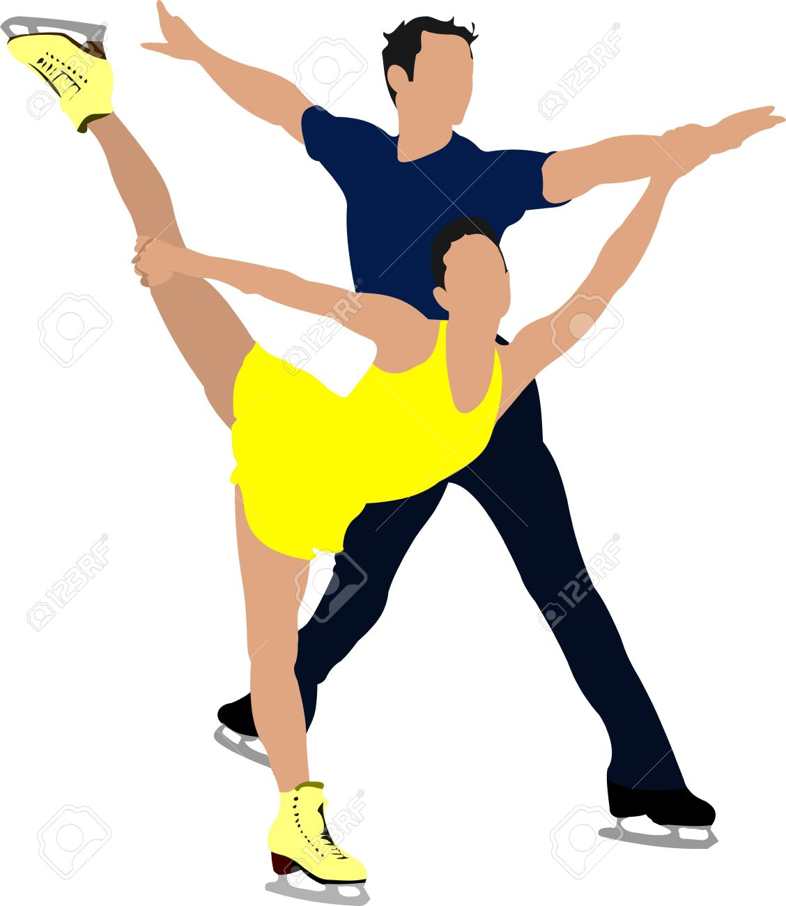 1128x1300 Couple clipart ice skating