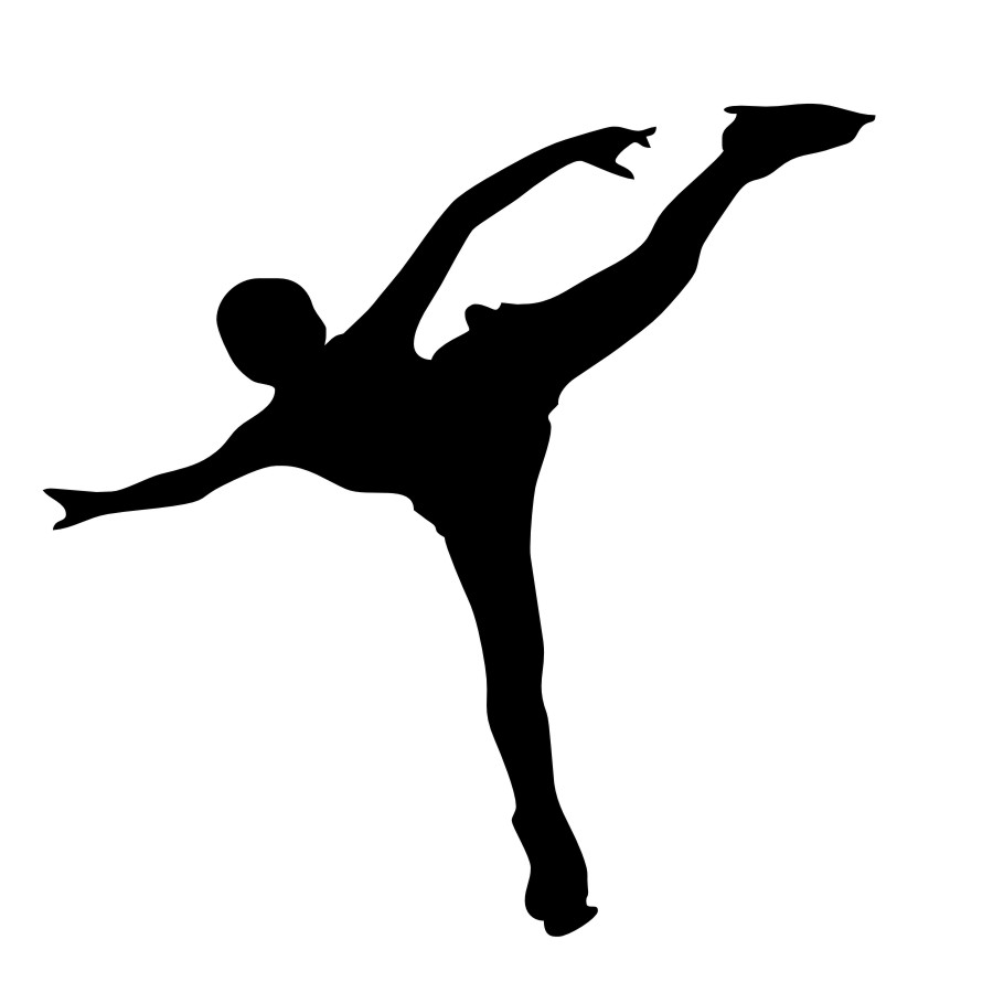 900x900 DCTOP Ice Sports Wall Decals Ice Skater Skating Silhouette Wall