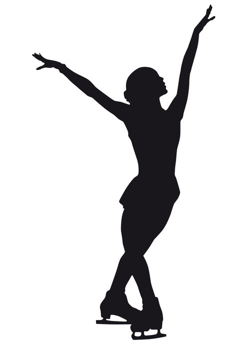 495x700 Figure Skaters Silhouette