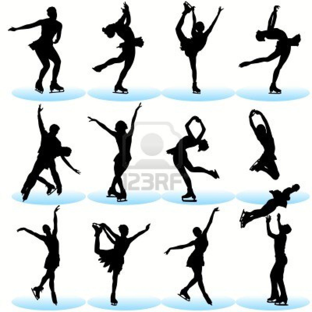 1200x1200 Figure Skating Silhouettes Set Figure Skating