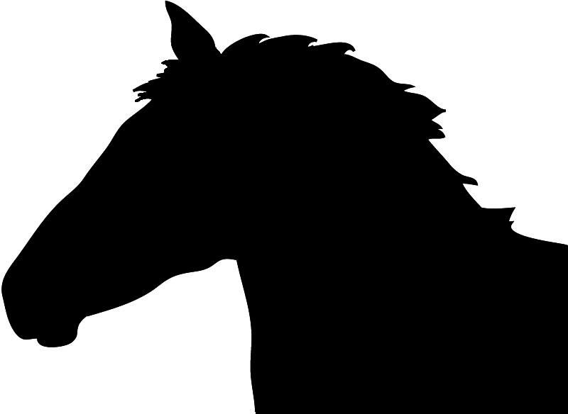 800x584 Running Horse Silhouette Clipart