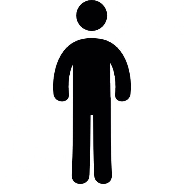 626x626 Standing Man Silhouette