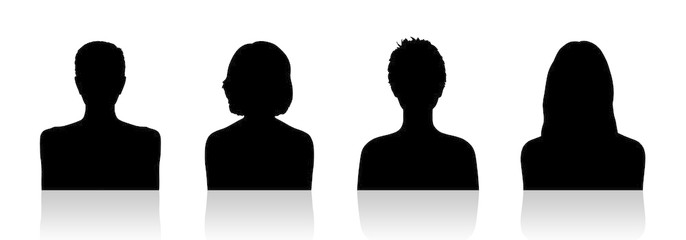 686x240 Women Id Silhouette Portraits Set 1