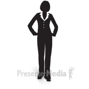 300x300 Businesswoman Silhouette Briefcase