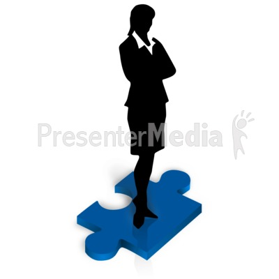 400x400 Businesswoman Stand Puzzle Piece